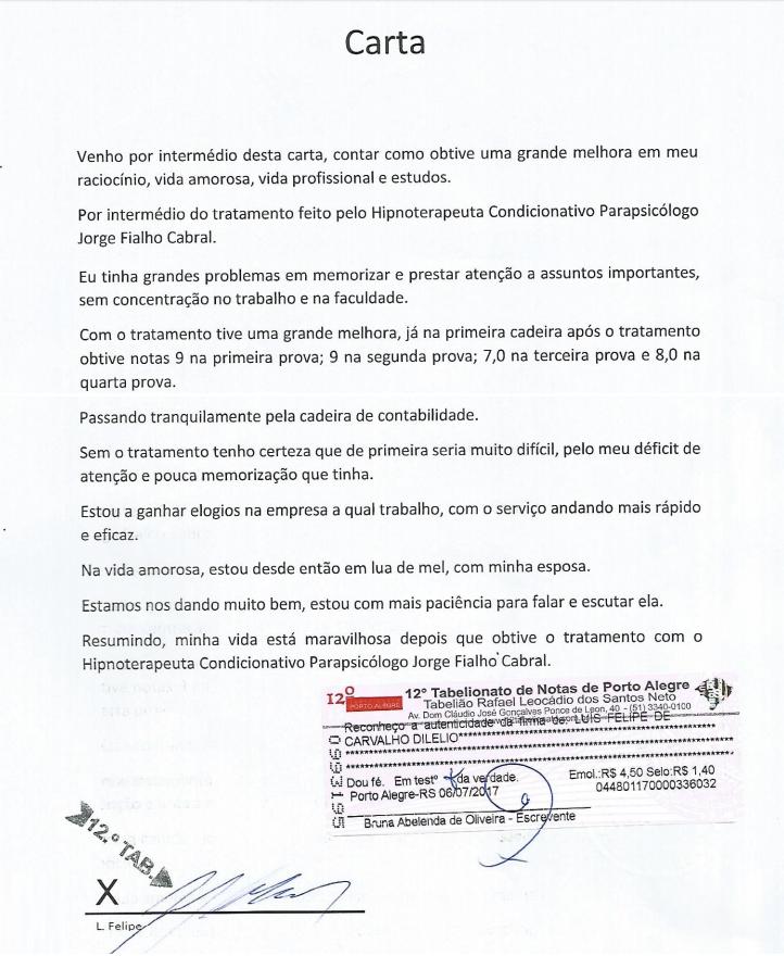 Depoimento Jorge Cabral